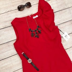 Calvin Klein Dresses - NEW Calvin Klein Red Cocktail Dress sz 12P